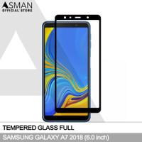 Tempered Glass Full Samsung Galaxy A7 (2018)   Anti Gores Kaca - Hitam