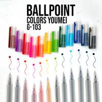 Pulpen gel 12warna / 12pcs pulpen gel warna warni / Pulpen YOUMEI G103