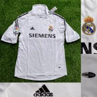 Jersey Kaos Baju Bola Klasik Retro Real Madrid Home 2005/2006 GO