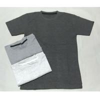 Kaos Oblong/Crew Neck Basic Polos Pria Tangan Pendek size XXL
