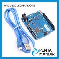 Arduino Leonardo R3 Microcontroller Atmega32u4 Board + Kabel USB Micro