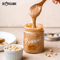 Beorganik Peanut Butter 280gr (Unsweetened, Gluten Free, Vegan) - Original SMOOTH