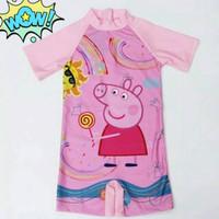 Baju renang pepa pig anak Import