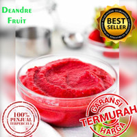 DIJAMIN MURAH 1kg Frozen Strawberry Puree Buah Beku Stroberi Pure