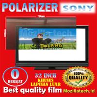 Polarizer tv lcd sony 32inch plastik poalrizer sony 32inc poalrizer