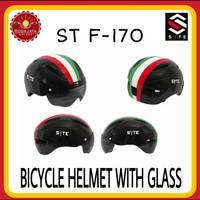 SYTE ST F-170 Helm Sepeda Dengan Kaca Visor
