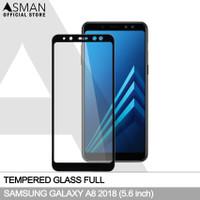 Tempered Glass Full Samsung Galaxy A8 (2018) | Anti Gores Kaca - Hitam