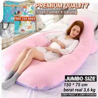 Bantal ibu hamil + sarung polos JUMBO SIZE premium quality