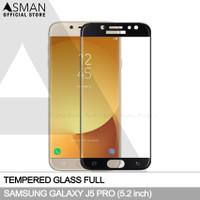 Tempered Glass Full Samsung Galaxy J5 Pro | Anti Gores Kaca - Hitam