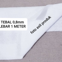Dakron Press Tebal 0,8mm Lebar 1 meter
