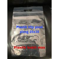 plastik klip pond 25x35 zipper ziplock cetik plastik baju hijab murah