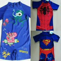 Baju renang george pig anak laki / swimsuit pepa pig import