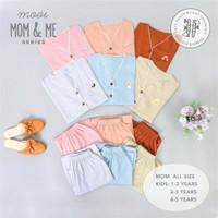 Setelan Piyama Baju Tidur Ibu dan Anak MOOI Mom & Me Bamboo