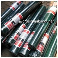 Kawat Loket PVC Hijau 1/2 Inch Mesh Ayakan Ayak RAM Kandang 1/2 Inci