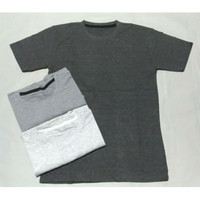 Kaos Oblong Polos Basic Pria/Kaos T Shirt Pria Tangan Pendek Size XL - Biru dongker, XL