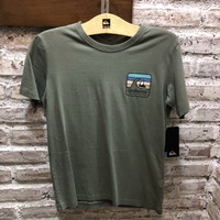 Baju kaos tshirt anak laki quiksilver original clean line youth green