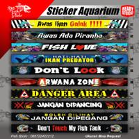 Stiker Aquarium Sticker Kaca Aquarium Stiker Ikan Arwana Stiker