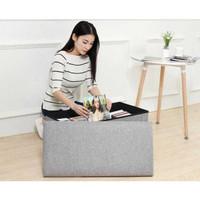 Sofa Kotak Penyimpanan Barang Serbaguna Box Bangku Sofa L170402