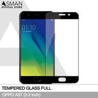 Tempered Glass Full OPPO A57 (5.2) | Anti Gores Kaca - Hitam