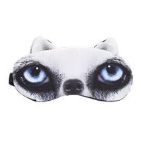 Penutup Mata Tidur Motif Kucing Anjing lucu plus gel biru - Anjing 1