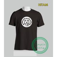 Kaos Siluet Cute Dog Tshirt Baju Distro