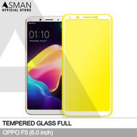 Tempered Glass Full OPPO F5 (6.0) | Anti Gores Kaca - Putih