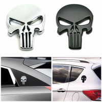 EMBLEM PUNISHER // emblem mobil motor logo tengkorak 3D metal