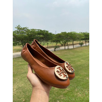 TORY BURCH CLASSIC LEATHER FLAT SHOES / FLATSHOES / IMPORT