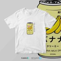 Japanese Banana Milk Shake (W) - Kaos Anime Haikyuu! Banana Milk Shake - XS