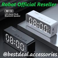 Robot RB150 LED Alarm Clock Bluetooth Speaker FM Radio (spt RB550)