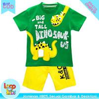 Baju Setelan Anak Laki-Laki Logokids Big & Tall Dino (YLW) 1-10 Tahun