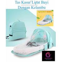 Tas Kasur Lipat bayi Baby Bag Tas Kasur Dengan Kelambu baby Bag