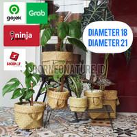 Bakul Cover Pot Anyaman Purun Diameter 18 - 21