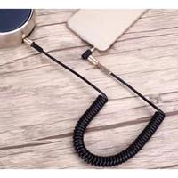Kabel Audio anti Noice untuk HP ke Speaker Aux Mobil Spiral Max 100cm