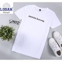 Kaos Distro Pria Pecinta Burung / Tshirt Pria / 100% Cotton Combed 30s - Putih, S