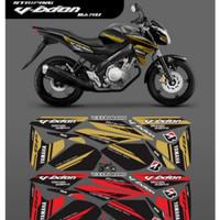 Striping Decal Sticker Variasi Yamaha Vixion New Motif Gafis GP 01