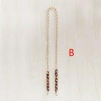 Chain Mask Strap / Pengait Masker Rantai Leopard Rainbow Gold