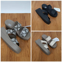 Sandal Crocs Brooklyn Mid Wedges/Sandal Wanita Wegdes 6Cm