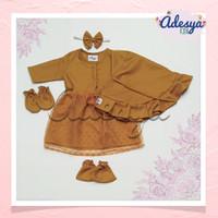 baju muslim bayi perempuan/gamis bayi akikah/gamis Alika Gold