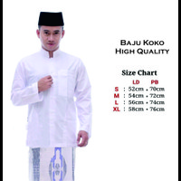 Baju Muslim Polos Warna Putih Lengan Panjang Baju Koko Pria Polos