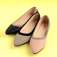 Cerelia Risa Flat Shoes Grey - 39