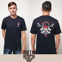 Kaos Pakaian Pria Autorock Piston Flame Navy T-Shirt - M