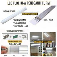 LED Neon 36W 36 Watt 120cm Pengganti Lampu TL Kap RM