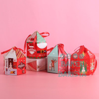 (5pcs) xmas box triangle / box kue kotak kado natal christmas cake box