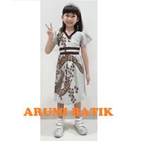 Dress Baju Batik Sekolah Anak Perempuan Balita TK SD PAUD BALITA 2921