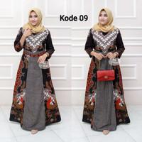 batik gamis lebaran Baju remaja batik longdress batik wanita muslimah