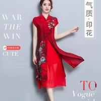 Dress cheongsam wanita real pic 100% produk original