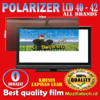 Plastik polarizer 40inch plastick polaris lcd 40inch 0 derajat