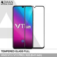 Tempered Glass Full VIVO V11 / Pro (6.41)   Anti Gores Kaca - Hitam
