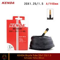 Ban Dalam Sepeda Kenda 20x1.25/1.50 Pentil Besar 48mm Schrader